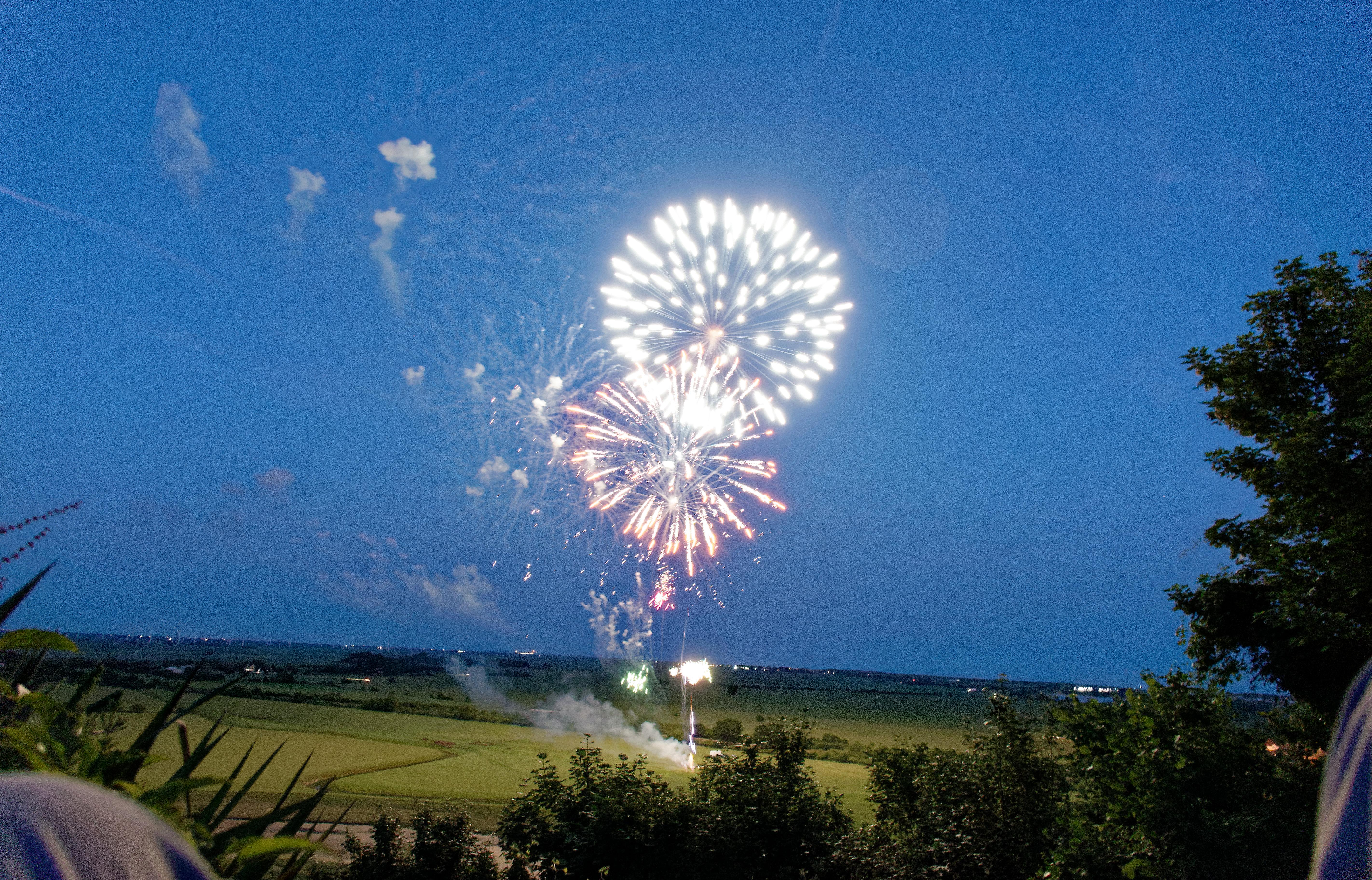 Wedding Fireworks in East Sussex