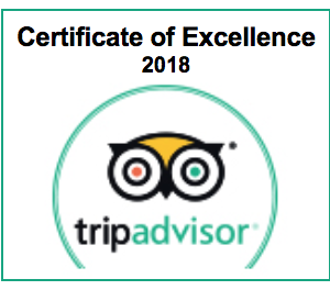 TripAdvisor Certificate of Excellence 2018 awarded to Saltcote Place 2018