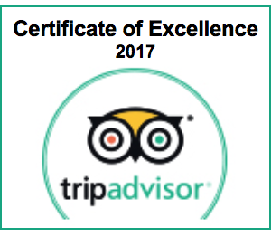 TripAdvisor Certificate of Excellence 2017 awarded to Saltcote Place 2017
