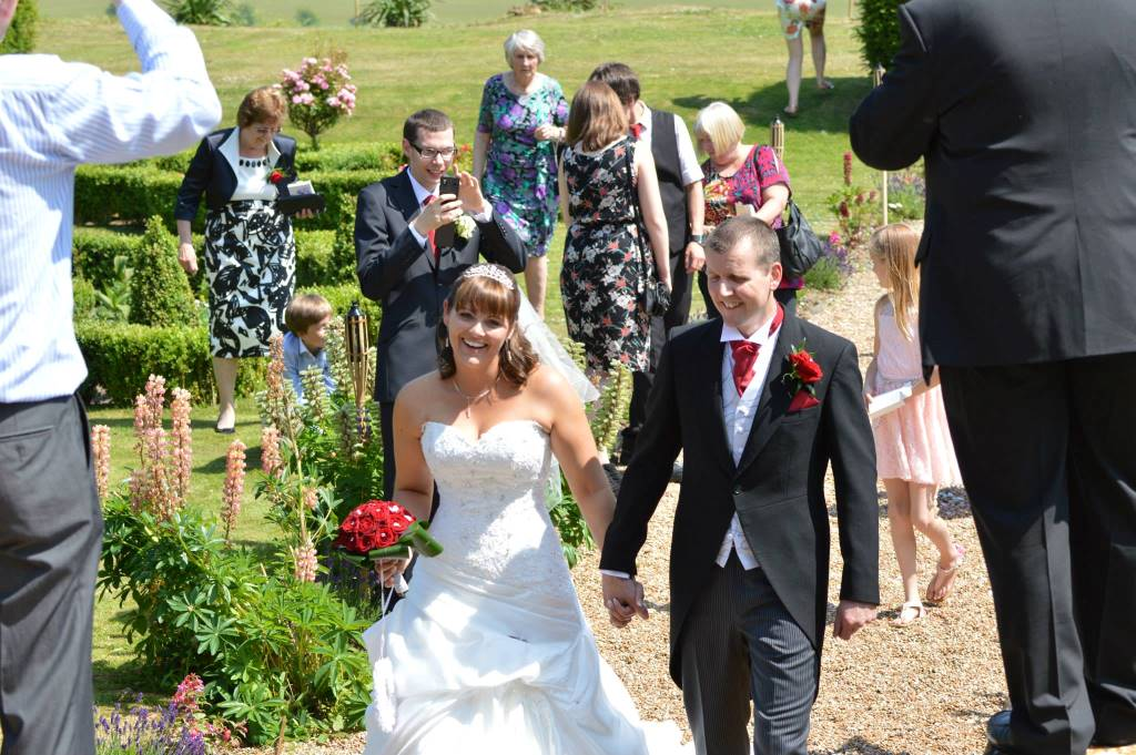 Stacey and Rob on their Wedding day at this intimate small wedding venue