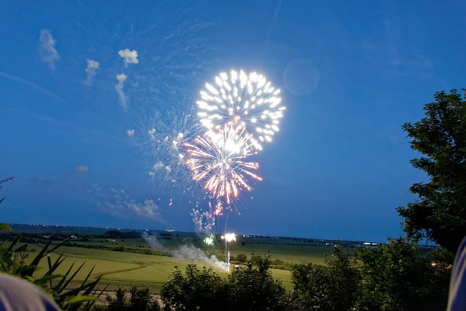 Wedding Fireworks in East Sussex